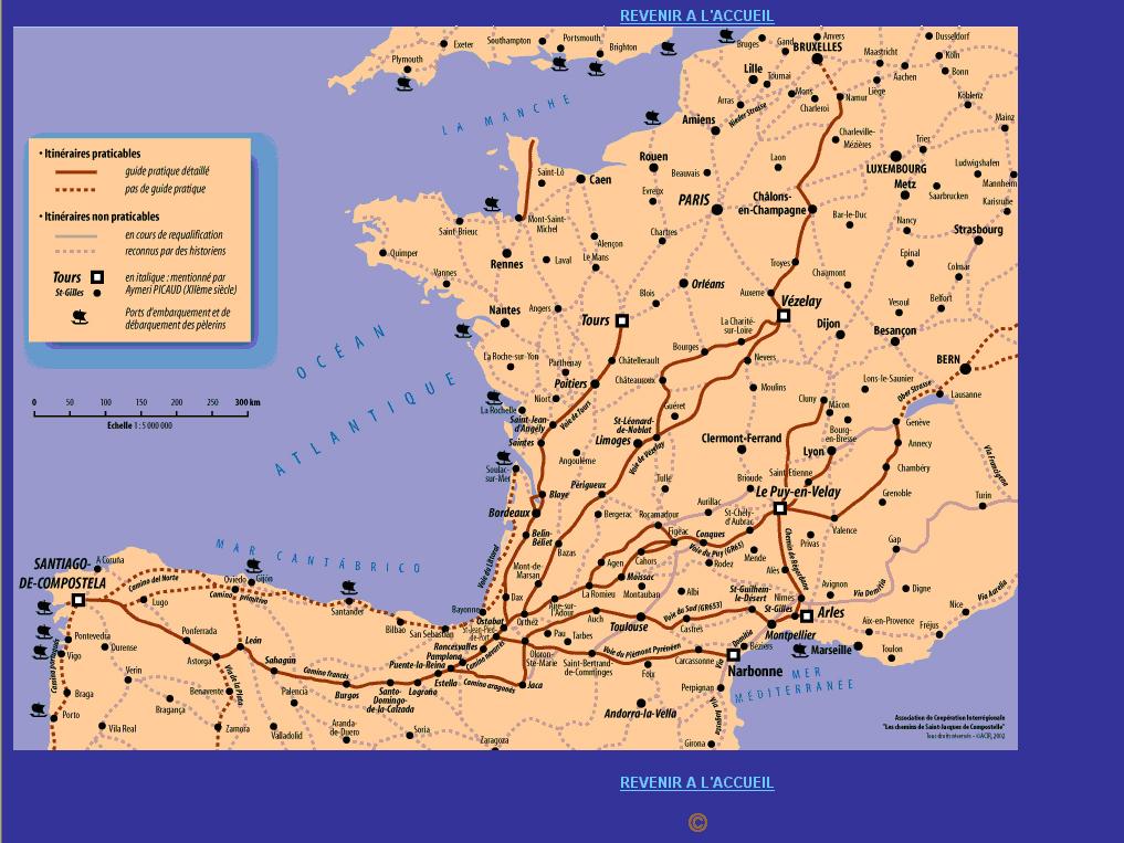frankrike spanien karta Pilgrimsvandring frankrike spanien karta